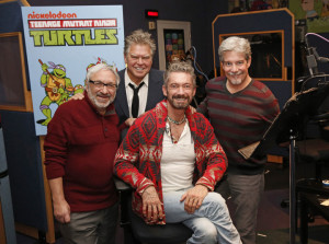 Townsend Coleman, Barry Gordon, Cam Clarke, Seth Green of the 80's Turtles  and Pat Fraley reunite for a special episode of Nickelodeon's Teenage Mutant Ninja Turtles premiering in March. Photo: Robert Voets/ Nickelodeon ©2016 Viacom, International, Inc. All Rights Reserved.